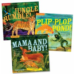 Indestructibles Wordless Animal Books - Set of 3