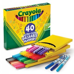Crayola® 40-Count Fine Line Washable Markers (Single Box)