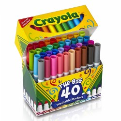 Crayola® 40-Count Broad-line Washable Markers - Single Box