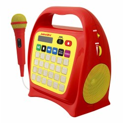 Juke24™ Digital Jukebox With CD Player & Karaoke - Red/Yellow