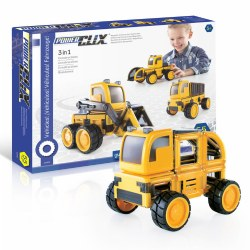 PowerClix® 3-in-1 Construction Vehicle Set (55 Pieces)