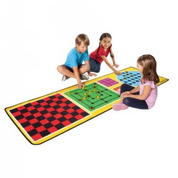 4-in-1 Board Game Rug - 6.5' x 2.2'