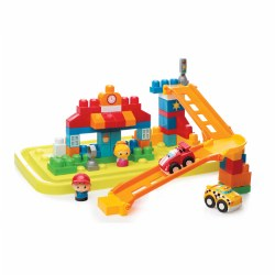 Mega Bloks® First Builders™ Fast Tracks™ City Center (75 Pieces)