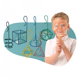 FEWW® Geometric Bubble Wands (Set of 7 Bubble Wands in 3D Shapes)