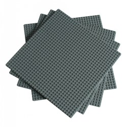10 x 10 Baseplates - Gray (4 Pack)