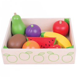 Bigjigs® Wooden Fruit Crate - 8 Pieces
