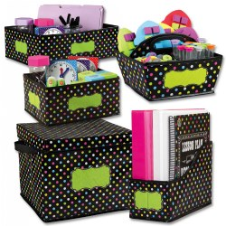 Storage Bins - Chalkboard Brights