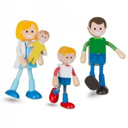 Wooden Flexible Family Figures