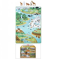 Jumbo Habitats Activity Rug & Bonus Safari Animals Set