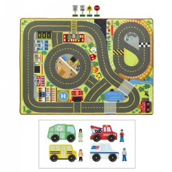 Jumbo Roadway Activity Rug & Community Vehicles