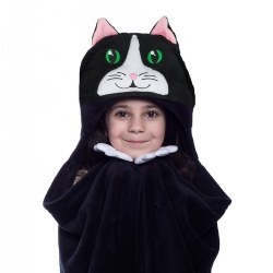 Comfy Critters Hooded Blanket - Chloe the Cat