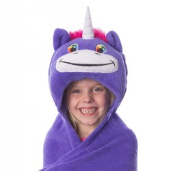 Comfy Critters Hooded Blanket - Unity Unicorn