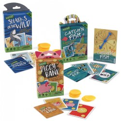 Hoyle™ Sharks, Fish, and Piggy Math Card Games