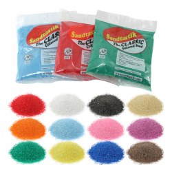 Classic 1 lb Rainbow Colored Play Sand Assortment (12 Bags)