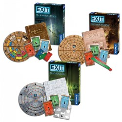 Exit Games: Secret Lab, Pharaoh's Tomb, and Abandoned Cabin (Set of 3)