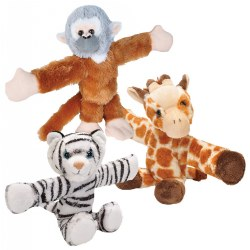 Huggers Plush Giraffe, Monkey, and Tiger