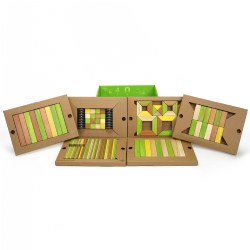 Tegu Magnetic Wooden Blocks Classroom Kit - Jungle (130 Pieces)