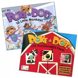 Poke-A-Dot® Monkey & Farm Book Set