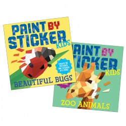 Paint By Sticker Kids: Beautiful Bugs & Zoo Animals Book Set