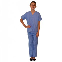 Pretend Play Doctor Scrubs Childs Size 5 - 6 Blue
