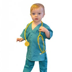 Little Doc Scrubs - Teal Green (2T)