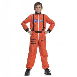 Child's Astronaut Dress Up - Orange Size 10 - 12