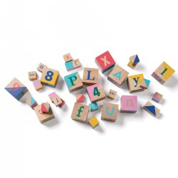STEM Bloxs with Colors, Shapes, Letters and More - 33 Pieces