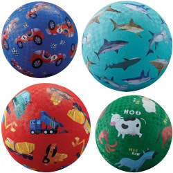 "Colorful Playground Balls includes 2-7"" balls and 2-5"" balls"