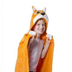 Comfy Critters Hooded Blanket - Finn the Fox