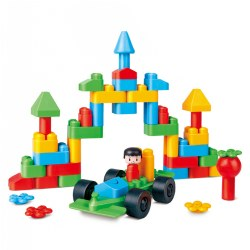PolyM® Creative City Building Blocks Kit - 50 Pieces