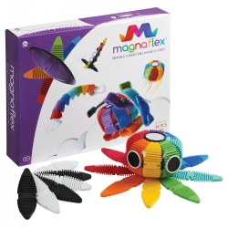 Magnaflex Flexible Magnetic Construction Kit - Rainbow (34 Pieces)