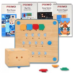 Primo™ Cubetto Robot & Adventure Pack Deluxe Playset