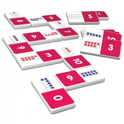 Ten Frame Dominoes Game - 28 Dominoes