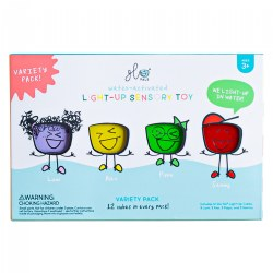 Glo Pals Light Up Water Cubes - Extended Battery Life - Tray of 12