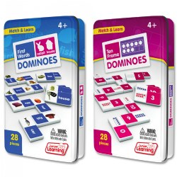 Ten Frame & First Words Dominoes Game Set (56 Dominoes)