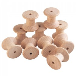 Toddler Wooden 35mm Spools - Set of 10