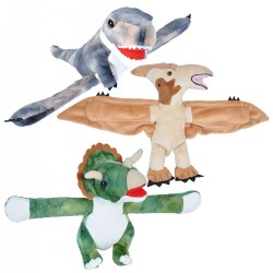 Huggers Plush Dino T-Rex, Pteranodon, and Triceratops
