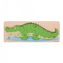 Wooden Crocodile Number Puzzle