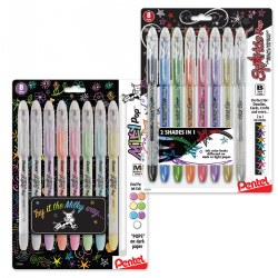 Pentel Milky Pop & Sparkle Pop Gel Pen Set