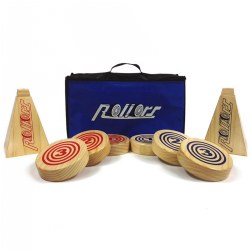 Rollors Outdoor All Wood Game Combining Bocce, Horseshoes and Bowling