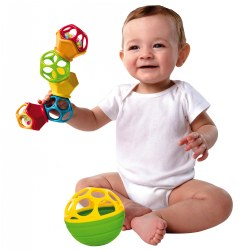 Oball™ Clicky Twister Rattle & Ball Set