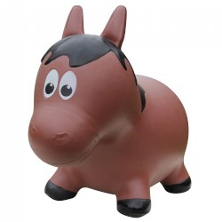 Farm Hoppers® Inflatable Bouncing Brown Horse