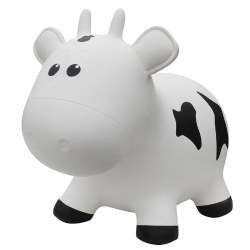 Farm Hoppers® Inflatable Bouncing White Cow