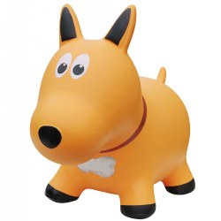 Farm Hoppers® Inflatable Bouncing Yellow Dog