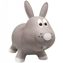 Farm Hoppers® Inflatable Bouncing Grey Rabbit