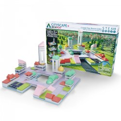 Arckit Play Architectural Building Kit: Cityscape Plus - 160 Pieces