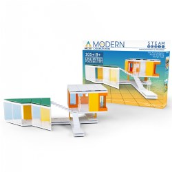 8 years & up. Design and build your own mini modern designer home model. This unique architectural engineering model kit contains contemporary building components and design adhesives inspired by real modern architecture. Learn what it takes to bring cutting edge buildings to life on a miniature scale. Includes  105 Building components: 20 unique components, A starter guide, Free access to Arcktexture Library and Arckit Digital, and a High quality reusable box.