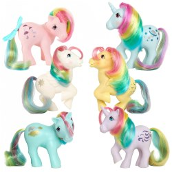 Retro My Little Pony Rainbow Collection - Set of 6