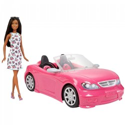 Barbie® Doll & Convertible Car Brunette