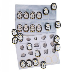 "3 years & up. This ""waddle"" of penguins will delight and inspire children into pre-coding fun! The Pre-coding Penguin Stones promote directional and positional language, matching practice, problem solving, pattern making, logical thinking, and sequencing skills.  These durable stones are specifically designed to embed pre-coding skills through an appealing, tactile resource. Set features four of each directional arrow and two without arrows. The Pre-coding Penguin Activity Cards feature a variety of activities that focus on matching, sequencing, pattern making, and logical thinking. The photographic images provide an appealing and realistic backdrop to the activities. Cards are made from sturdy and washable plastic. Stones measure 2"". Cards measure 8"" x 11"". Included: 18 Penguin Stones & 16 Pre-coding Penguin Activity Cards."